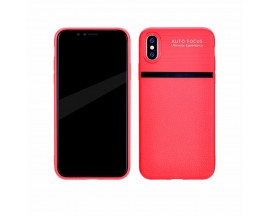 Husa Spate Upzz Auto Focus Silicon Soft iPhone X,iphone 10 Red