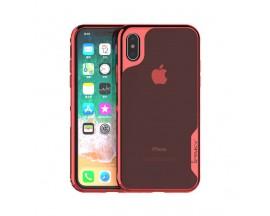 Husa Spate Ipaky Hybrid Top iPhone X, iPhone 10, Rosu Transparent