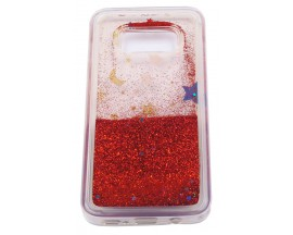 Husa Spate Glitter Star Liquid Samsung S7 Edge Red
