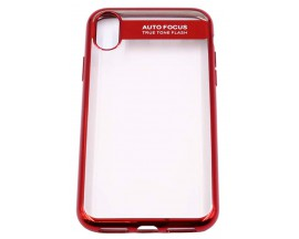 Husa Spate Silicon ElectroPlated Auto Focus Slim iPhone X ,iPhone 10 Red