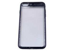 Husa Spate Silicon ElectroPlated Auto Focus Slim iPhone 7 Plus Black
