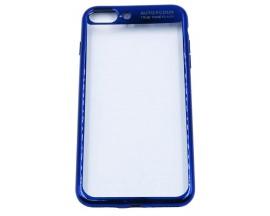 Husa Spate Silicon ElectroPlated Auto Focus Slim iPhone 7 Plus Blue