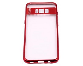 Husa Spate Silicon Electroplated Auto Focus Slim Samsung S8 Plus G955f Red