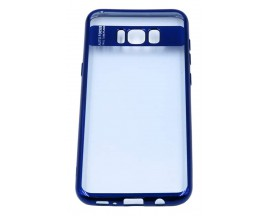 Husa Spate Silicon Electroplated Auto Focus Slim Samsung S8 Plus G955f Blue
