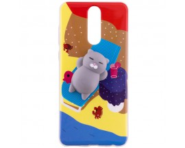 Husa Spate Squishy 3D Huawei Mate 10 Fat Cat Model 2
