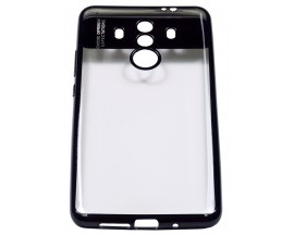Husa Spate Silicon ElectroPlated Auto Focus Slim Huawei Mate 10 Pro Negru