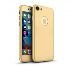 Husa iPaky 360 grade Ultra Slim iPhone 8GoldFolie Sticla Inclusa