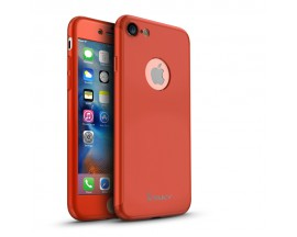 Husa iPaky 360 grade Ultra Slim iPhone 8 Red Folie Sticla Inclusa