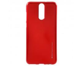 Husa Spate Huawei Mate 10 Lite I-jelly Metal Mercury Rosu