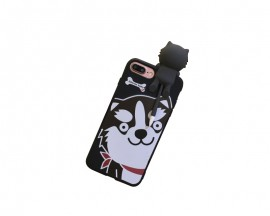 Husa 3d Cute Upzz iPhone 7 Husky Black