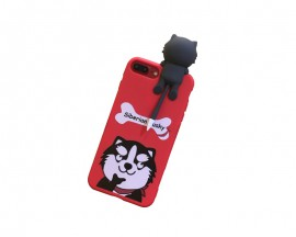 Husa 3d Cute Upzz iPhone 7 Plus Husky Red
