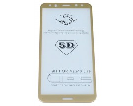 Folie Sticla 5d 0.3mm Full Glue Cover Huawei Mate 10 Lite Gold