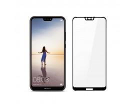 Set Folie Sticla Full Cover 3d Upzz Huawei P20 Lite Negru Si Folie Camera Best Suit Nano Glass
