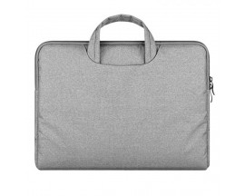 Husa Geanta Upzz Tech-protect Briefcase Macbook 15.6 Gri Deschis