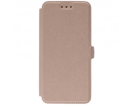 Husa Huawei P20 Flip Cover Pocket Gold