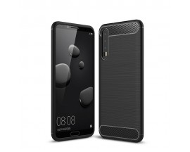 Husa Spate Forcell Carbon Pro Huawei P20 Pro Black