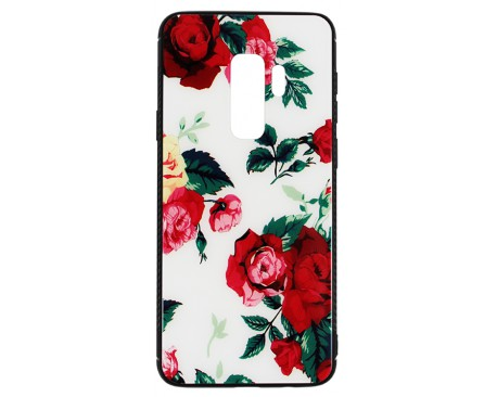 Husa Samsung Galaxy S9+ Plus Premium Glass Mixon Flower