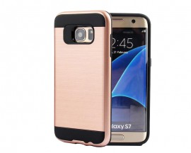 Husa Anti-Shock Pro Plus Samsung S7 Edge Rose Gold