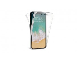 Husa 360 Grade Full Cover Silicon iPhone X Transparenta