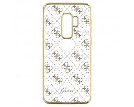 Husa Premium Guess Spate Samsung Galaxy S9+ Plus Gold Transparent Silicon-GUHCS9LTR4GG