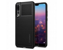 Husa Premium Originala Spigen Marked Huawei P20 Pro Negru ,silicon