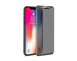 Folie Sticla 4d Privacy iPhone X - Negru