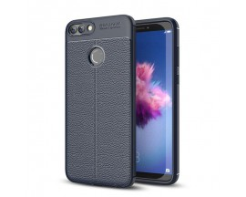 Husa Spate Litchi Pattern Flexible Mixon Huawei P Smart ,silicon Blue