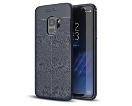 Husa Spate Litchi Pattern Flexible Upzz Samsung S9 ,silicon Blue