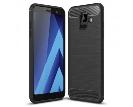 Husa Spate Forcell Carbon Pro Samsung A6 2018 Negru Silicon