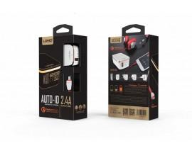 Incarcator priza LDNIO A1204Q Qualcomm Quick Charge 2.0 USB cu cablu Lightning