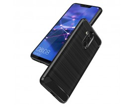 Husa Spate Forcell Carbon Pro Huawei Mate 20 Lite , Negru Silicon