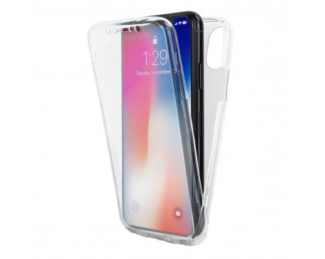 Husa 360 Grade Full Cover Silicon iPhone XR Transparenta