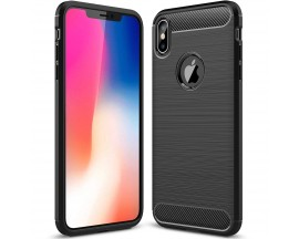 Husa Spate Forcell Carbon Pro iPhone Xs Max Black Silicon