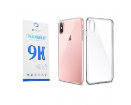 Set Premium Husa Esr Essential Transparenta Si Folie Nano Glass Ultra Rezistenta iPhone Xs Max