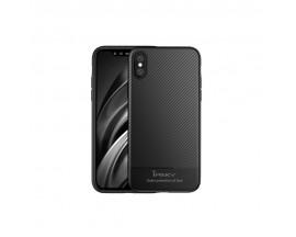 Husa Spate Ipaky Slim Carbon iPhone X, iPhone Xs Negru