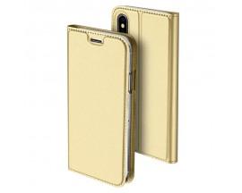 Husa Flip Cover Premium Duxducis Skinpro iPhone Xs Max Gold