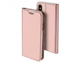 Husa Flip Cover Premium Duxducis Skinpro iPhone Xs Max Rose Gold