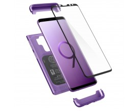 Husa Originala Spigen 360 Grade Thin Fit Samsung Galaxy S9 Cu Folie Sticla Curbata Inclusa ,Lilac Purple