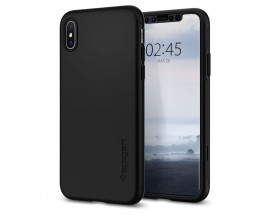 Husa Premium Spigen Thin Fit 360 iPhone Xs Max Cu Folie Sticla Black