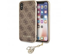 Husa Premium Originala Guess Charm Edition iPhone XS Max Brown