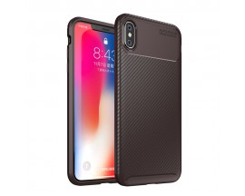 Husa Premium Rugged Carbon New Auto Focus iPhone Xs Max Negru