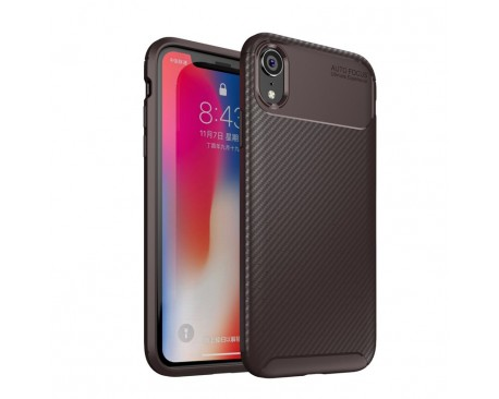 Husa Premium Rugged Carbon New Auto Focus iPhone XR Negru