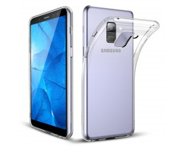 Husa Ultra Slim Upzz Samsung A8 2018 Transparenta 0,5mm