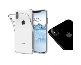 Husa Ultra Slim 0,5mm Mixon iPhone Xs Max Silicon Soft Transparenta Cu Folie De Camera Nano Glass