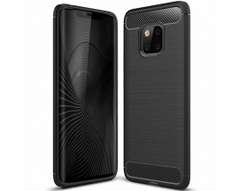Husa Spate Forcell Carbon Pro Huawei Mate 20 Pro Negru Silicon