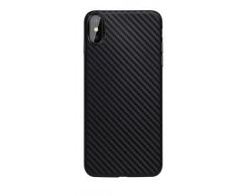 Husa Spate Upzz Carbon Fiber iPhone X/xs Neagra