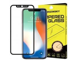 Folie Sticla Full Cover Full Glue Wozinsky Samsung J4+ Plus 2018 Cu Adeziv Pe Toata Suprafata Foliei Negru