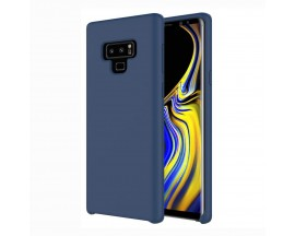 Husa Silicon Soft Samsung Note 9 Interior Alcantara Dark Blue