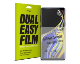 Folie Silicon Premium Full Cover Dual Easy Film Ringke Samsung Note 9 Transparenta