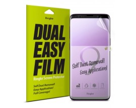 Folie Silicon Premium Full Cover Dual Easy Film Ringke Samsung S9+ Plus Transparenta